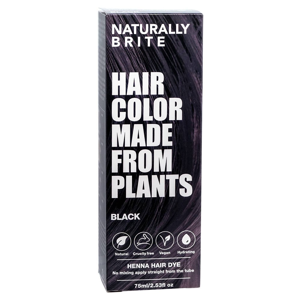 Brite Naturally Henna Hair Dye Black 2 53 Fl Oz