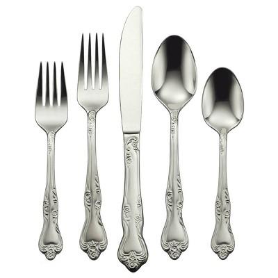 45pc Stainless Steel Azelea Everyday Silverware Set - Oneida