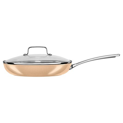 KitchenAid 12  Hard Anodized Nonstick Skillet with Lid - KC3H112KL