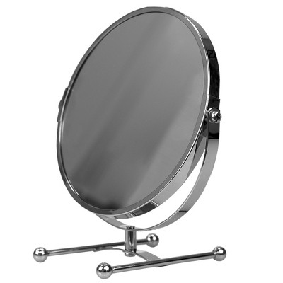 Home Basics Double Sided Countertop Cosmetic Mirror, Chrome