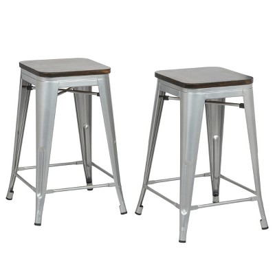 """24"""" Emil Square Counter Height Barstool - Carolina Chair & Table"""