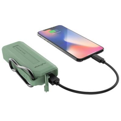 myCharge Adventure H2O Mini 3350mAh Portable Charger - Light Green