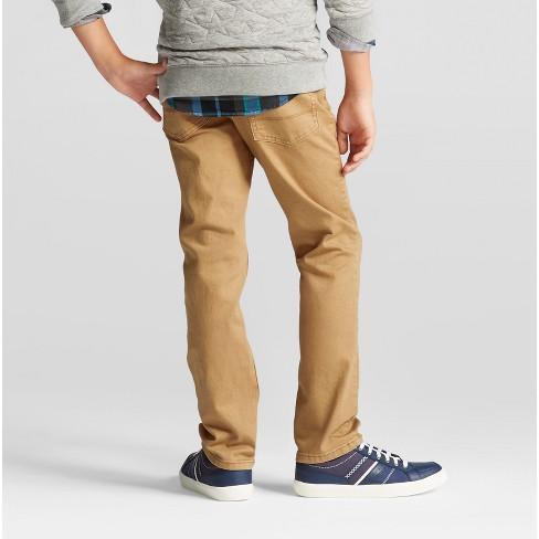 75b7399a947d Boys  Straight Fit Jeans - Cat   Jack™ Khaki Wash   Target