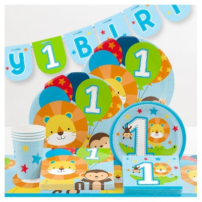 1st Birthday Boy /'/'Blue One is Fun/'/' Dessert Paper Plates 8ct