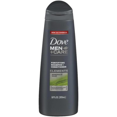 Dove Men + Care Minerals & Sage Fortifying Shampoo + Conditioner - 12oz