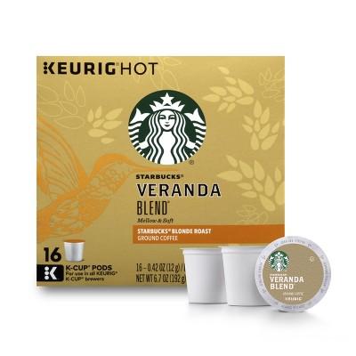 Starbucks Veranda Blend Blonde Light Roast Coffee - Keurig K-Cup Pods - 16ct