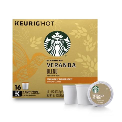 Starbucks Veranda Blend Blonde Light Roast Coffee - Keurig K-Cup Pods - 16ct - image 1 of 4