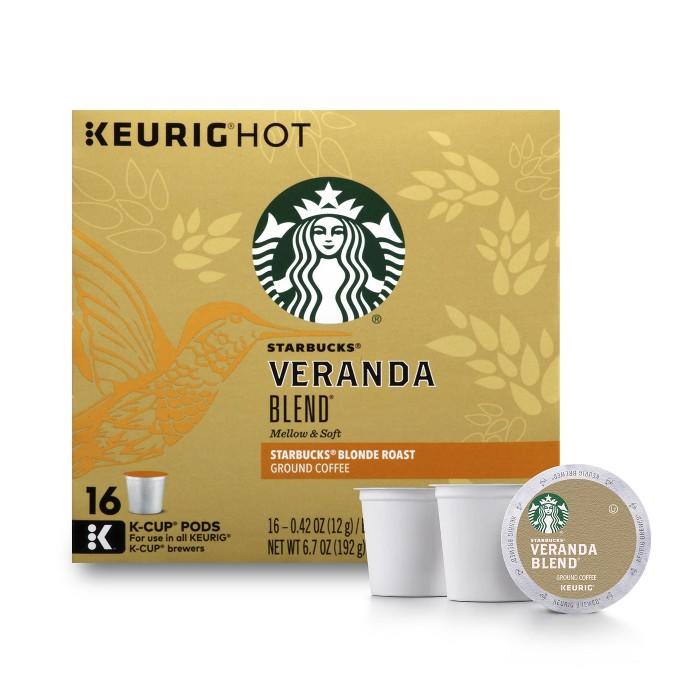 Starbucks Veranda Blend Blonde Light Roast Coffee - Keurig K-Cup Pods - 16ct - image 1 of 5