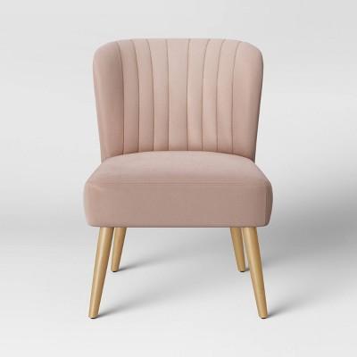 Chelidon Velvet Slipper Chair Blush - Opalhouse™