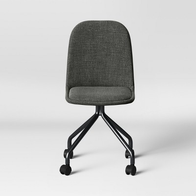 Upholstered Rolling Desk Chair Gray - Room Essentials™