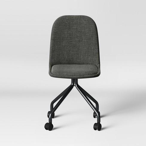 Surprising Upholstered Rolling Desk Chair Gray Room Essentials Download Free Architecture Designs Intelgarnamadebymaigaardcom