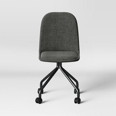 Attirant Upholstered Rolling Desk Chair   Room Essentials™