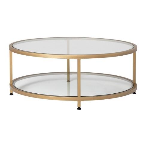 38 Camber Modern Glass Round Coffee, Round Glass Coffee Table Modern