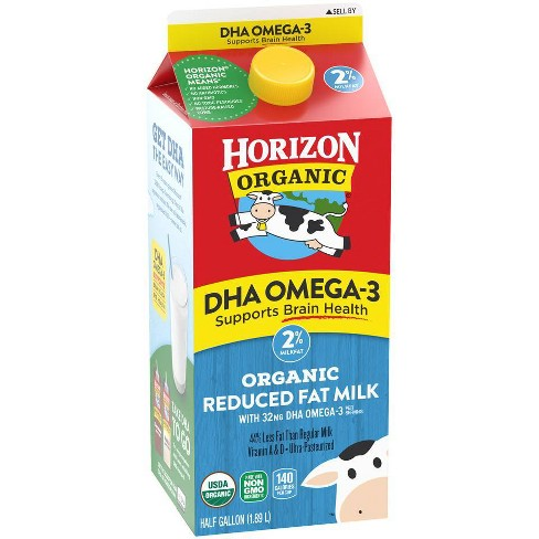 A Little Noticed Target In House Health >> Horizon Organic 2 Milk With Dha Omega 3 0 5gal Target