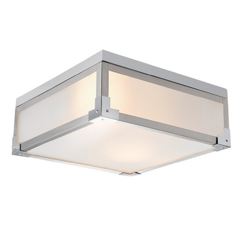 Globe Electric 60339 Blair 2 Light 13 Wide Flush Mount Square Ceiling Fixture