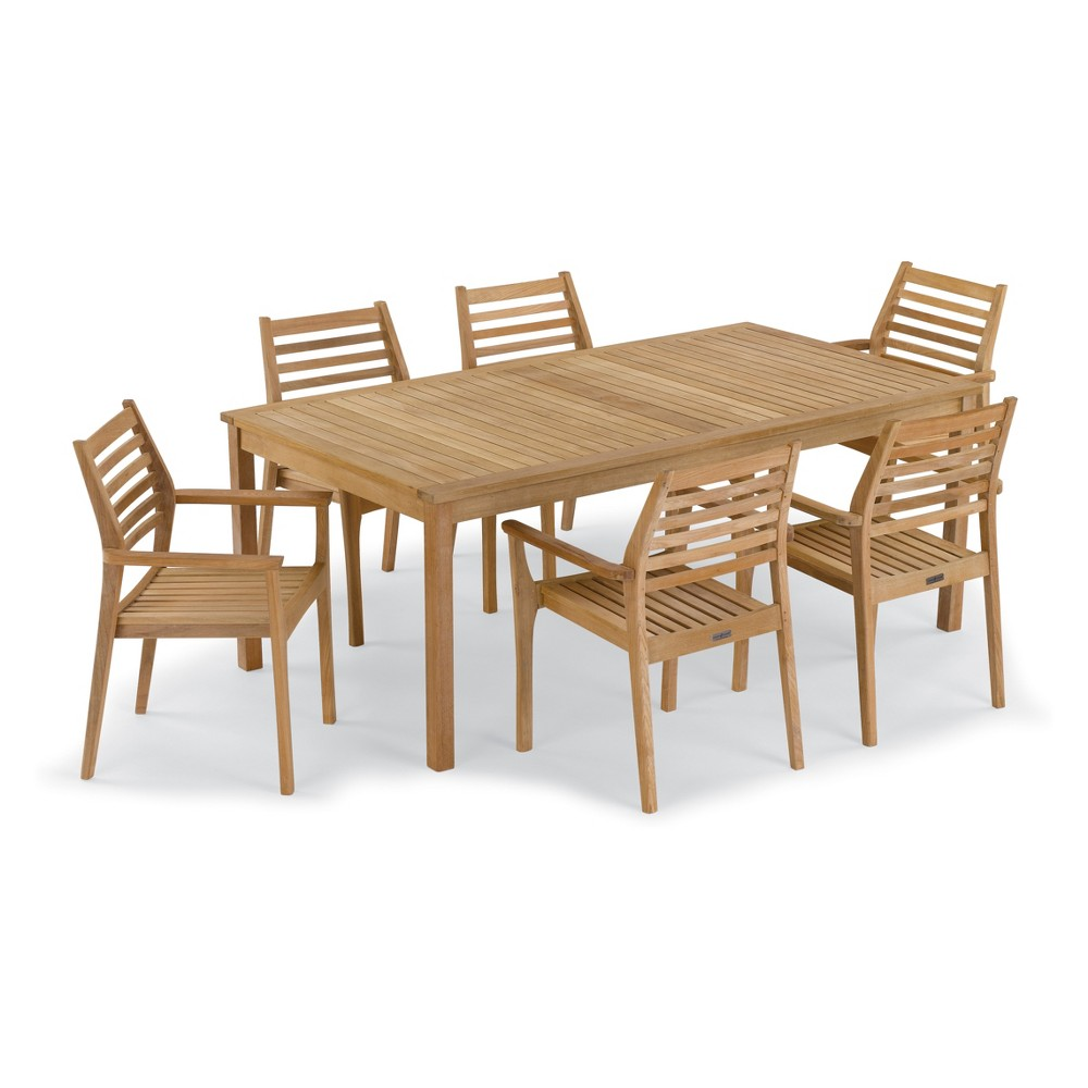 7pc Patio Dining Set Neutral - Oxford Garden