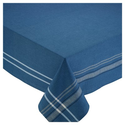 Design Imports 104 X60  Chambray Tablecloth Blue