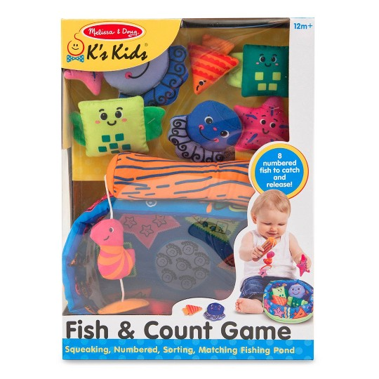 Melissa & Doug K's Kids Fish and ct Learning Game With 8 Numbered Fish to Catch and Release image number null