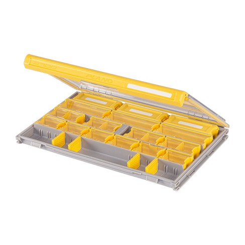 Plano PLASE400 Edge Waterproof Rust Resistant Stackable Universal Tackle Box Storage Organizer with Compartment Dividers for Fishing Terminal - image 1 of 4
