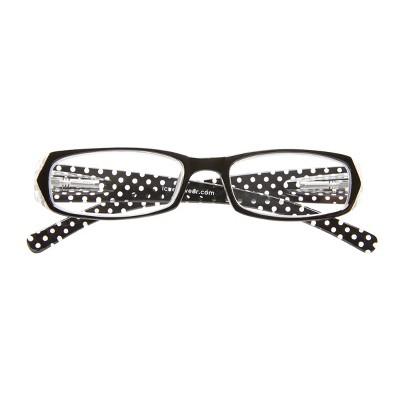 ICU Eyewear Black Polka Dot Rectangle Reading Glasses