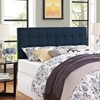 Lily Full Upholstered Fabric Headboard Navy - Modway - image 4 of 4