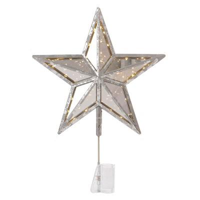 Lit Star Christmas Tree Topper Black - Wondershop™