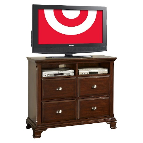 Carlton 4 Drawer Tv Stand Cherry Brown Picket House Furnishings