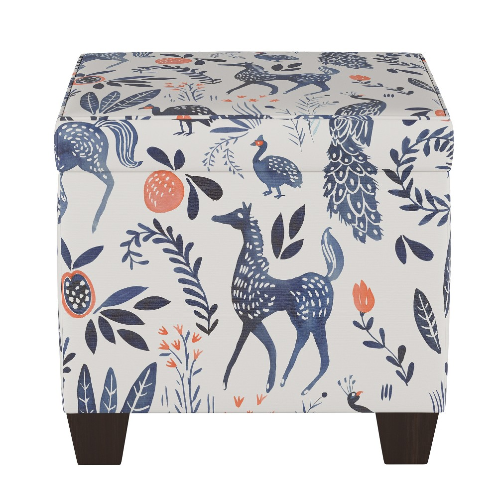 Wondrous Pattern Fairland Square Storage Ottoman Ivory Animal Print Pabps2019 Chair Design Images Pabps2019Com