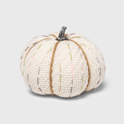 Medium Tweed with Stitch Fabric Harvest Pumpkin (with White Contrast Jute Base)- Spritz™