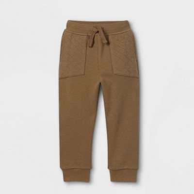 Toddler Boys' Quilted Pocket Jogger Pants - art class™ Olive Green
