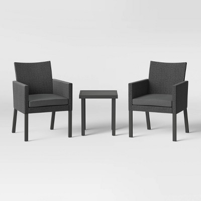 Howell Upholstered Patio Chat Set - Gray - Project 62™