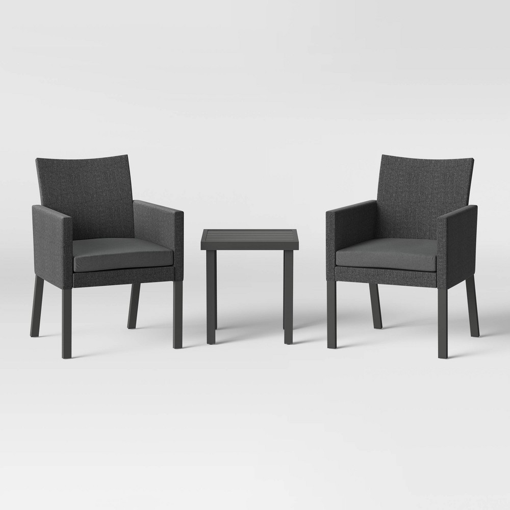 Howell Upholstered Patio Chat Set - Gray - Project 62 was $280.0 now $140.0 (50.0% off)