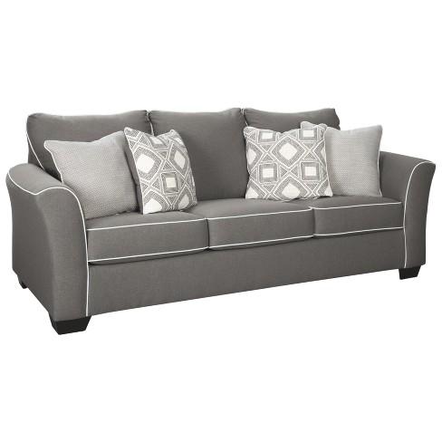 Astonishing Domani Queen Sofa Sleeper Charcoal Heather Gray Signature Design By Ashley Download Free Architecture Designs Terchretrmadebymaigaardcom
