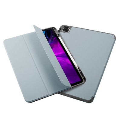 """Insten - Soft TPU Tablet Case For iPad Pro 12.9"""" 2020, Multifold Stand, Magnetic Cover Auto Sleep/Wake, Pencil Charging, Sky Blue"""