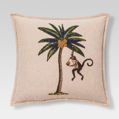 Monkey Throw Pillow - Cream - Threshold™