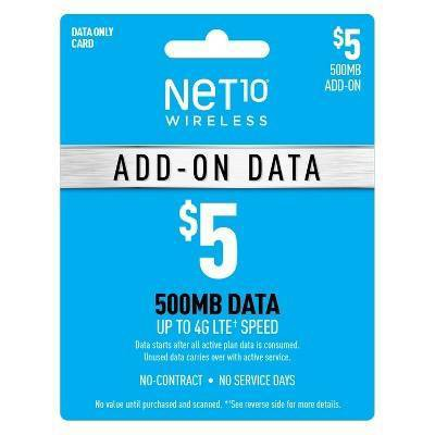 Net10 Wireless Add-On Data Prepaid Card (Email Delivery)