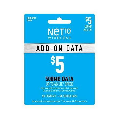 Net10 Wireless Add-On Data Prepaid Card (Email Delivery) - image 1 of 1