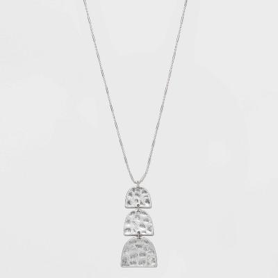 Semi Circle Tiered Pendant Necklace - Universal Thread™ Silver