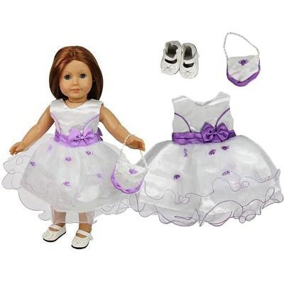 Dress Along Dolly Flower Girl Outfit for American Girl Doll