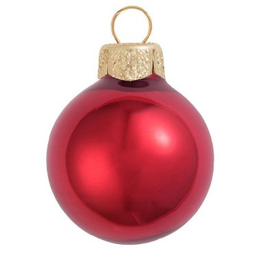 "Northlight 2ct Pearl Red Glass Ball Christmas Ornaments 6"" (152mm)"