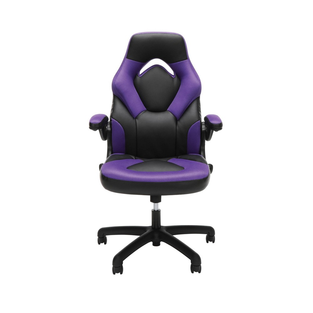 Racing Style Bonded Leather Gaming Chair Purple - Ofm