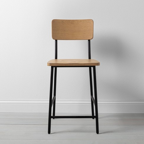 Wood & Steel Counter Stool Black - Hearth & Hand™ with Magnolia - image 1 of 4