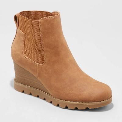 Women's Linda Water Repellant Wedge Boots - Universal Thread™