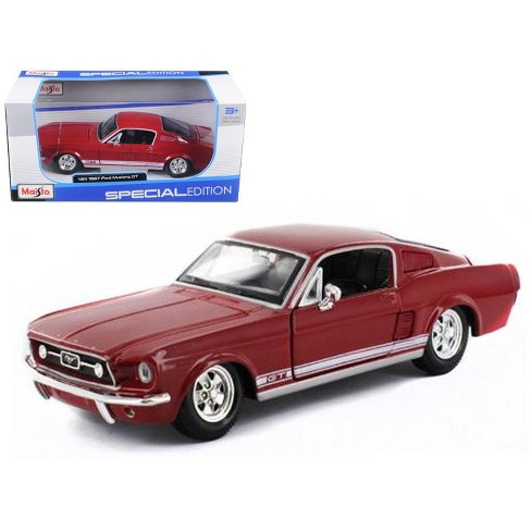 1967 Ford Mustang GT Red 1/24 Diecast Model Car by Maisto - image 1 of 1