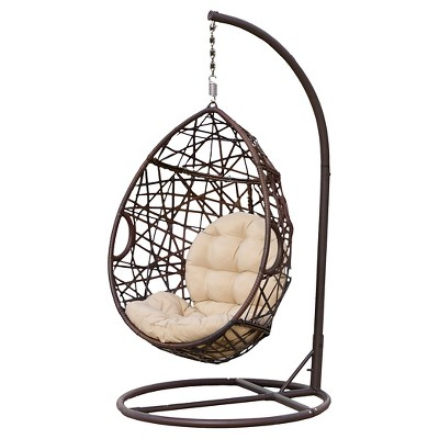 Wicker Patio Tear Drop Chair - Brown - Christopher Knight Home