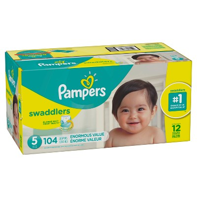 Pampers Swaddlers Disposable Diapers Enormous Pack - Size 5 (104ct )