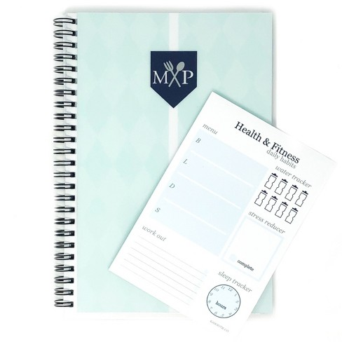 """Undated Weekly Meal Planner 8.5""""x5.5""""& Sticky Pad Bundle Teal - Kahootie Co - image 1 of 4"""