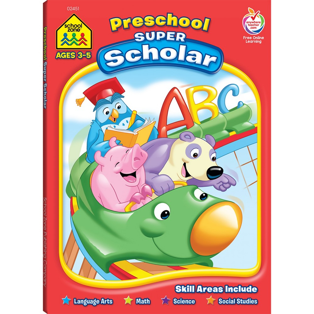 Preschool Super Scholar Workbook, Ages 3-5 (School Zone Publishing) (Paperback)