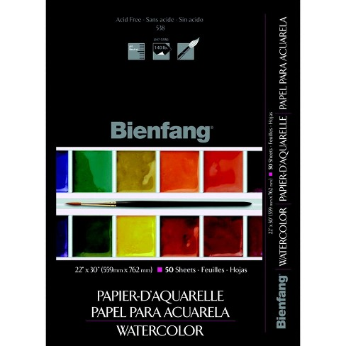 Bienfang Sulphite Extra Rough Students Watercolor Sheets, 130 lb, 22 x 30 Inches, pk of 50 Sheets - image 1 of 1
