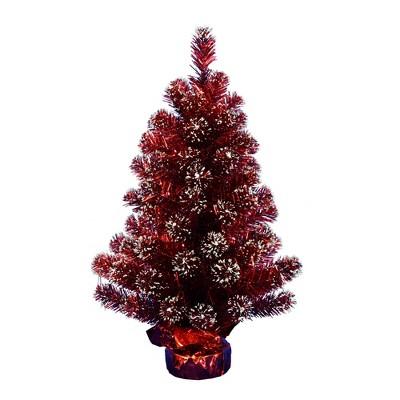Vickerman Sky Blue Tinsel Artificial Christmas Tree